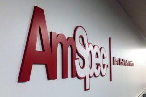 Custom Lobby Signage AmSpec