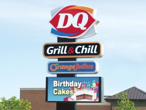 Indianapolis Lighted Signs 0092 Dairy Queen Bendsen Sign  Graphics W 19mm 80x176 Bloomington IL 101718 1 300x225