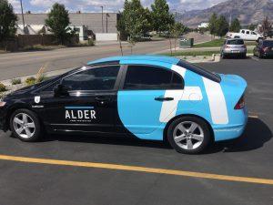 Indianapolis Car Wraps partial car wrap vehicle graphics lettering vinyl 300x225